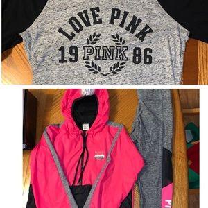 PINK Victoria's Secret Windbreaker,Leggings,Shirt